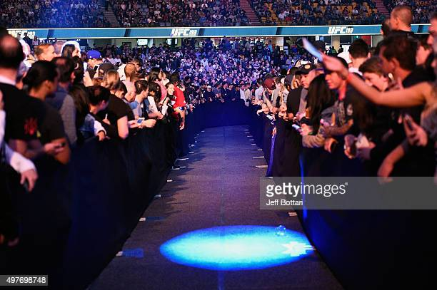 General view of fans waiting for a fighter walkout during the UFC 193 event at Etihad Stadium on November 15, 2015 in Melbourne, Australia.
