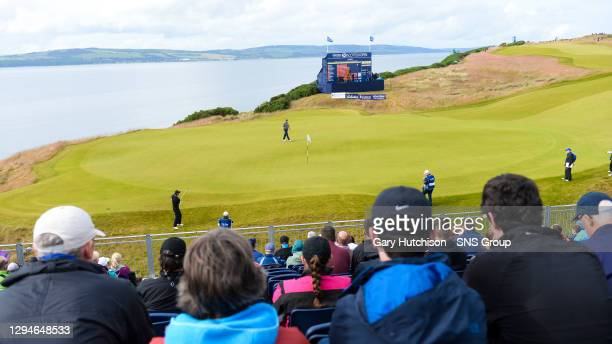 General view of fans watching the action at Castle Stuart