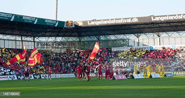 General view of Farum Park Arena home of FC Nordsjaelland taken during the Danish Superliga match between FC Nordsjaelland and AC Horsens held on May...