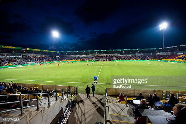 A general view of Farum Park before the Superliga football match between FC Nordsjaelland and Aalborg BK in Farum Park Stadium on May 7 2014 in Farum...