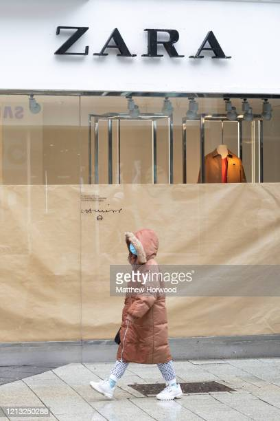 A general view of fashion retailer Zara in central Cardiff on March 18 2020 in Cardiff United Kingdom The fashion retailer Zara has announced it is...