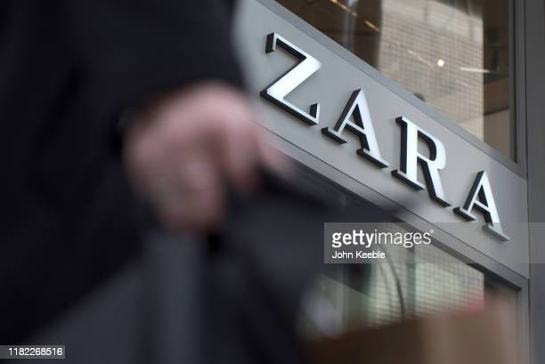 A general view of fashion retailer ZARA store on Oxford Street on October 16 2019 in London England