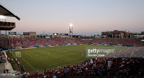 General view of FC Dallas Stadium during the first half of a soccer game between Chivas USA and FC Dallas on June 23 2012 in Frisco Texas