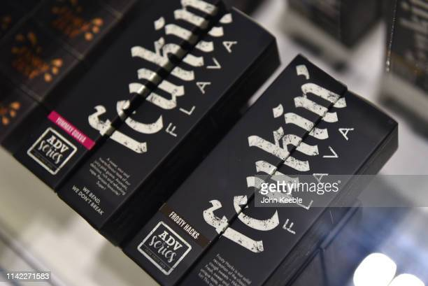 A general view of Fcukin Flava ELiquid on display during Vape Jam 2019 at ExCel on April 12 2019 in London England Vape Jam UK the premier Electronic...