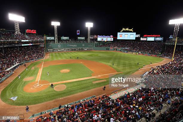 A general view of Fenway Park during Game 3 of ALDS between the Cleveland Indians and the Boston Red Sox at Fenway Park on Monday October 10 2016 in...