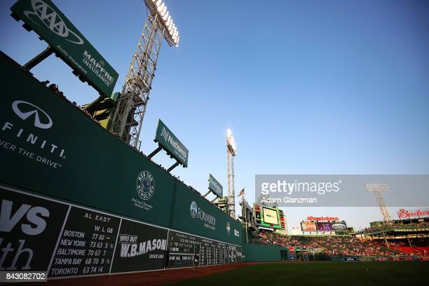 A general view of Fenway Park from left field before a game between the Boston Red Sox and the Toronto Blue Jays at Fenway Park on September 4 2017...