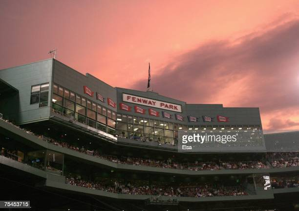 General view of Fenway Park taken during the game between the Boston Red Sox and the Toronto Blue Jays on July 13, 2007 at Fenway Park in Boston,...