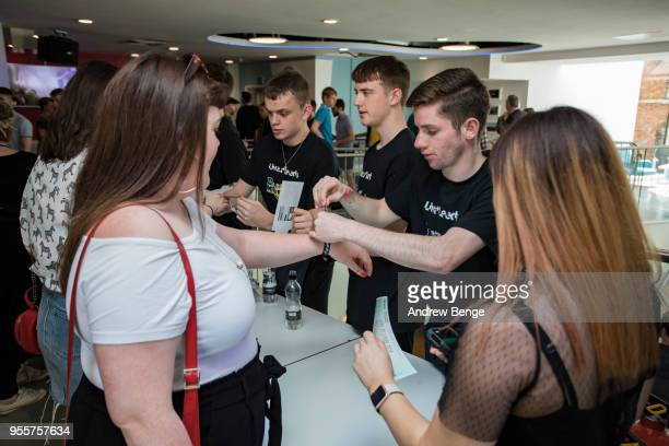 General view of festival goers at Leeds College of Music during Live At Leeds on May 5 2018 in Leeds England At Leeds