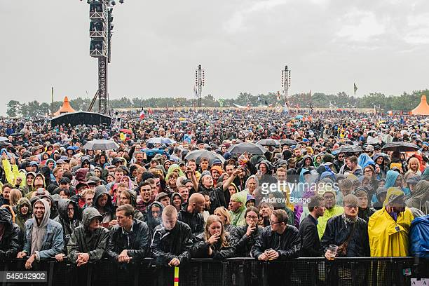 General view of festival goers at the Orange stage for Neil Young Promise Of The Real during Roskilde Festival 2016 on July 01 2016 in Roskilde...