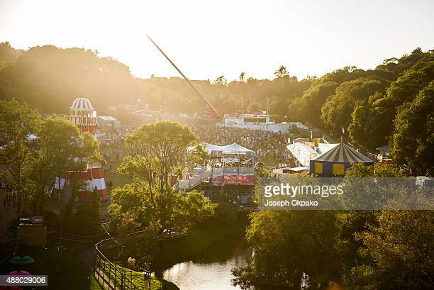 General view of festival goers on day 3 of Bestival 'Summer of Love' at Robin Hill Country Park on September 12 2015 in Newport Isle of Wight