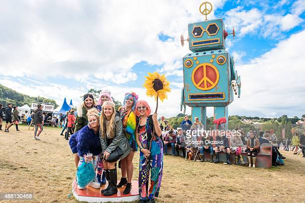 General view of festival goers on day 4 of Bestival at Robin Hill Country Park on September 13 2015 in Newport Isle of Wight