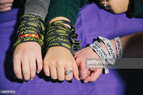 General view of festival wristbands at Live At Leeds on April 30 2016 in Leeds England