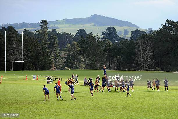 General view of field 2 during the Jock Hobbs Memorial Under 19 Rugby match Otago v Taranaki on September 18 2016 at Owen Delany Park in Taupo New...