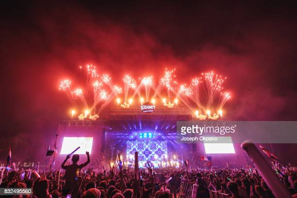 General view of Finale show during Day 7 of Sziget Festival 2017 on August 15 2017 in Budapest Hungary