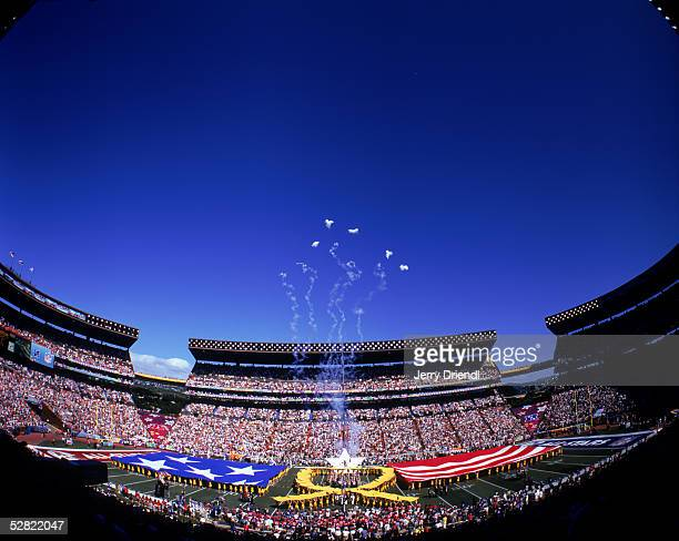 General view of fireworks during pregame festivities prior to the NFL Pro Bowl on February 13 2005 at Aloha Stadium in Honolulu Hawaii The AFC team...