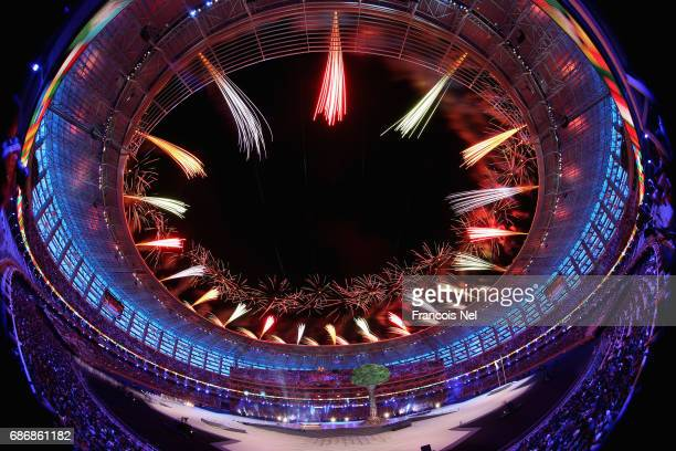 A general view of fireworks during the Closing Ceremony for the Baku 2017 4th Islamic Solidarity Games at Olympic Stadium on May 22 2017 in Baku...
