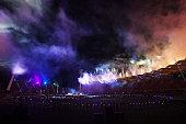 gold coast australia general view fireworks