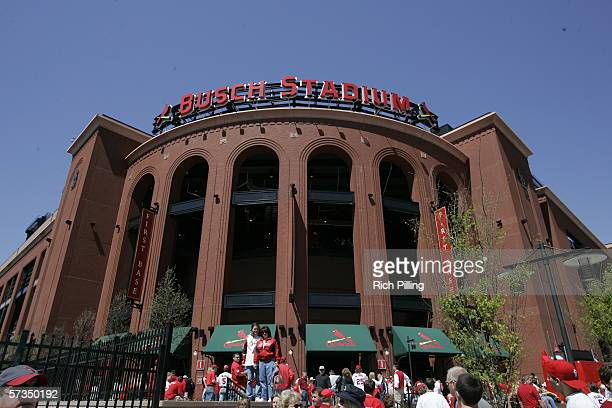 General view of first base entrance before the home opening game between the Milwaukee Brewers and the St. Louis Cardinals on April 10, 2006 at the...