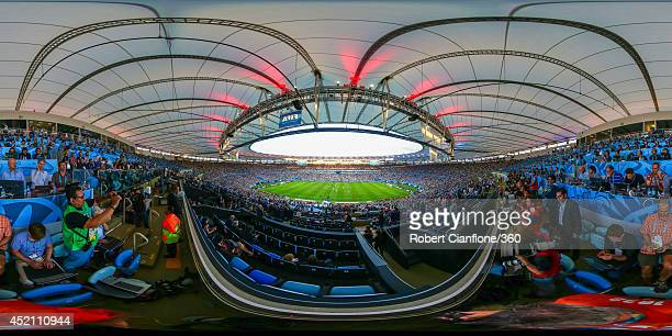 A general view of first half action during the 2014 FIFA World Cup Brazil final between Germany and Argentina at Maracana on July 13 2014 in Rio de...