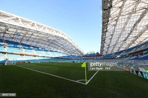 General view of Fisht Stadium prior to the 2018 FIFA World Cup Russia Quarter Final match between Russia and Croatia at Fisht Stadium on July 7 2018...