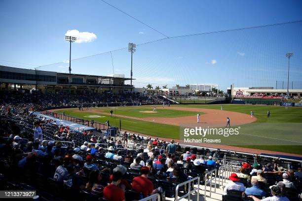 General view of FITTEAM Ballpark of The Palm Beaches after a Grapefruit League spring training game between the Washington Nationals and the New York...