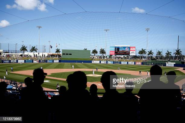 General view of FITTEAM Ballpark of The Palm Beaches as the New York Yankees play the Washington Nationals in a Grapefruit League spring training...