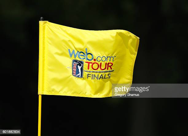 General view of flag on the third green during the third round of the Webcom Tour 2016 DAP Championship at the Canterbury Golf Club on September 10...