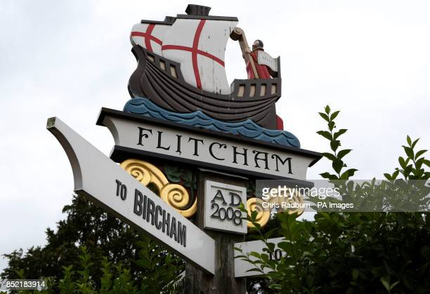 General view of Flitcham Norfolk a neighbouring village to Anmer and Anmer Hall on the Royal Sandringham Estate in Norfolk which the Duke and Duchess...