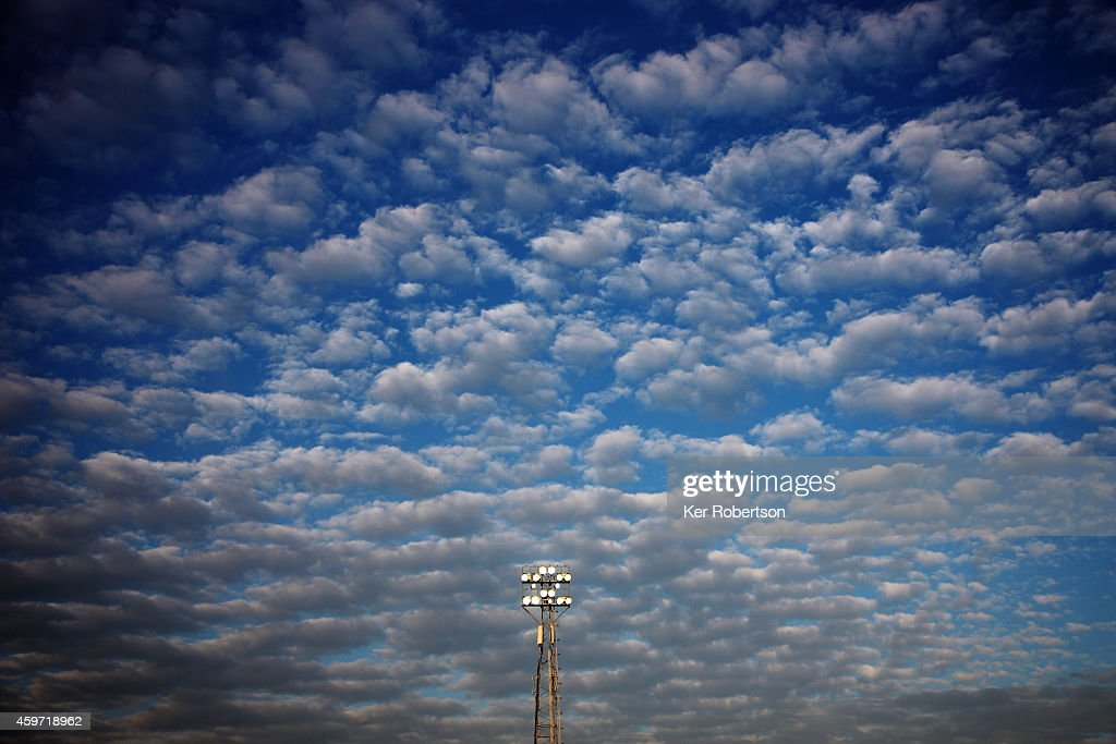General view of floodlights during the Sky Bet Championship match between Brentford and Wolverhampton Wanderers at Griffin Park on November 29, 2014 in Brentford, England.