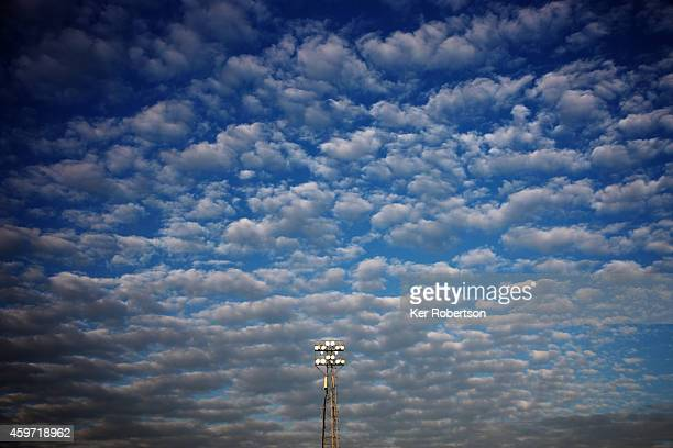 General view of floodlights during the Sky Bet Championship match between Brentford and Wolverhampton Wanderers at Griffin Park on November 29 2014...
