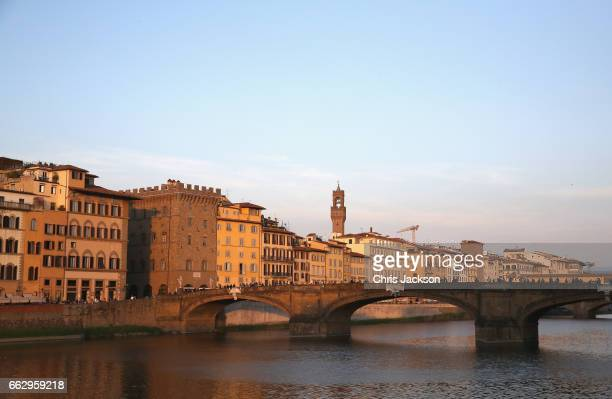 A general view of Florence on the second day of The Prince Of Wales And Duchess Of Cornwall's visit to Italy on April 1 2017 in Florence Italy