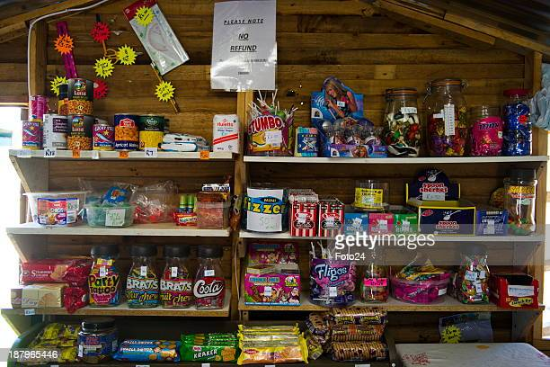 A general view of Florence van Niekerks spaza shop on November 12 2013 in Kempton Park South Africa Van Niekerk started a small spaza shop in her...