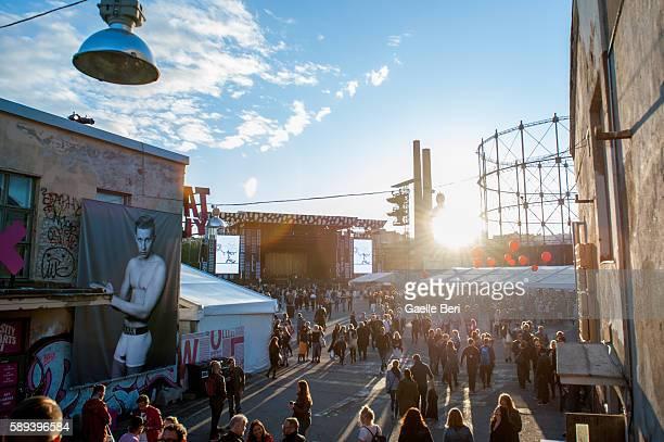 General view of Flow Festival on August 13 2016 in Helsinki Finland