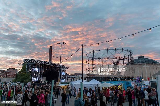 General view of Flow Festival on August 14 2016 in Helsinki Finland