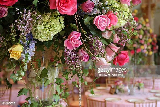 RATES General view of flowers at the wedding of Ivana Trump and Rossano Rubicondi at the MaraLago Club on April 12 2008 in Palm Beach Florida Cake...