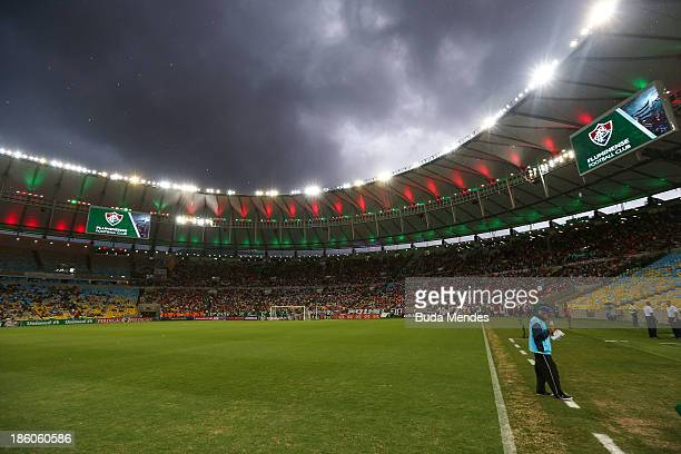 General view of Fluminense fans before a match between Fluminense and Vitoria as part of Brazilian Serie A 2013 at Aterro do Flamengo on October 27...