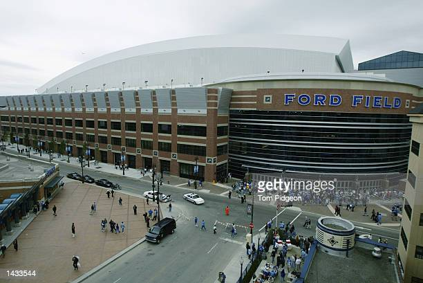 General view of Ford Field priort to the start of the NFL game between the Detroit Lions the Green Bay Packers on September 22, 2002 at Ford Field...