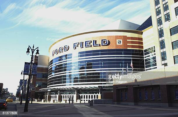 A general view of Ford Field taken before the game between the Detroit Lions and the Philadelphia Eagles at Ford Field on September 26 2004 in...