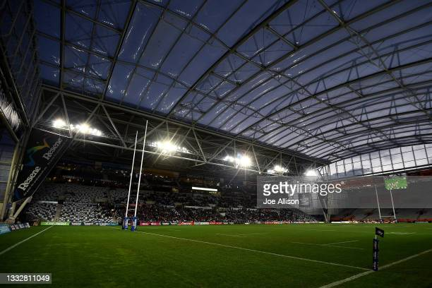 General view of Forsyth Barr Stadium during the round one Bunnings NPC match between Otago and Southland at Forsyth Barr Stadium, on August 07 in...