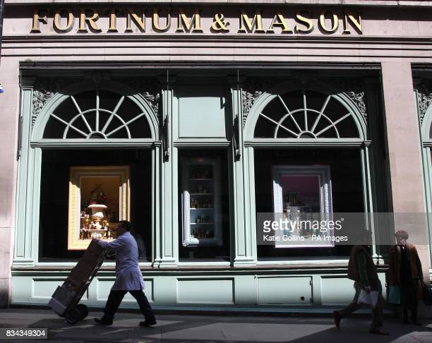 A general view of Fortnum and Mason in Piccadilly London William Fortnum and Hugh Mason established their store at it's current location in 1707 to...
