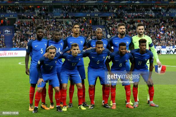 General View of France Team before the FIFA 2018 World Cup Qualifier between France and Belarus at Stade de France on October 10 2017 in Paris Samuel...
