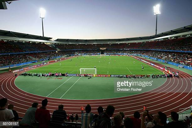 General view of Frankenstadium during the FIFA Confederations Cup 2005 match between Argentina and Australia on June 18, 2005 in Nuremberg, Germany.