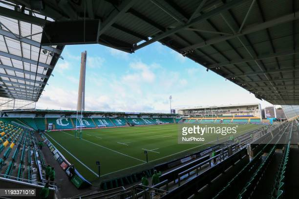 General view of Franklins Gardens before the European Champions Cup match between Northampton Saints and Benetton Rugby at Franklin's Gardens...