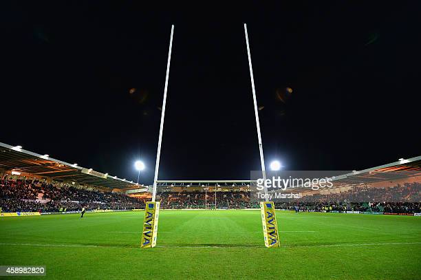 A general view of Franklin's Gardens during the Aviva Premiership match between Northampton Saints and Exeter Chiefs at Franklin's Gardens on...