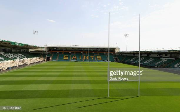 A general view of Franklin's Gardens during the Northammpton Saints training sessiond held at Franklin's Gardens on August 6 2018 in Northampton...