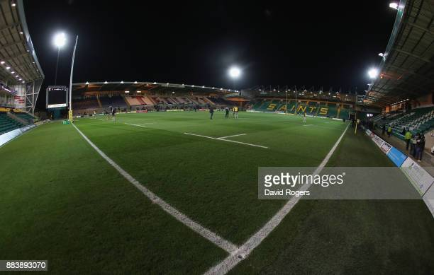 A general view of Franklin's Gardens prior to the Aviva Premiership match between Northampton Saints and Newcastle Falcons at Franklin's Gardens on...