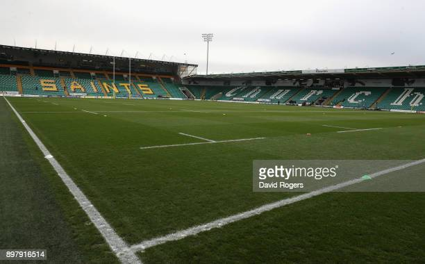 General view of Franklin's Gardens prior to the Aviva Premiership match between Northampton Saints and Exeter Chiefs at Franklin's Gardens on...