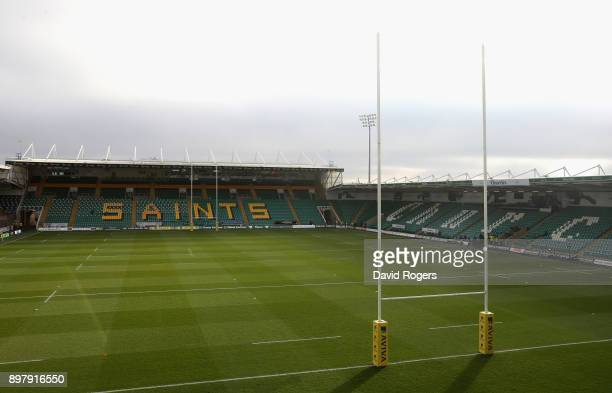 A general view of Franklin's Gardens prior to the Aviva Premiership match between Northampton Saints and Exeter Chiefs at Franklin's Gardens on...