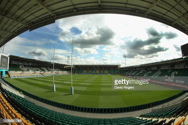 A general view of Franklin's Gardens prior to the Gallagher Premiership Rugby match between Northampton Saints and Saracens at Franklin's Gardens on...