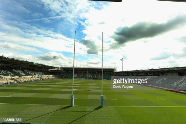 General view of Franklin's Gardens prior to the Gallagher Premiership Rugby match between Northampton Saints and Saracens at Franklin's Gardens on...